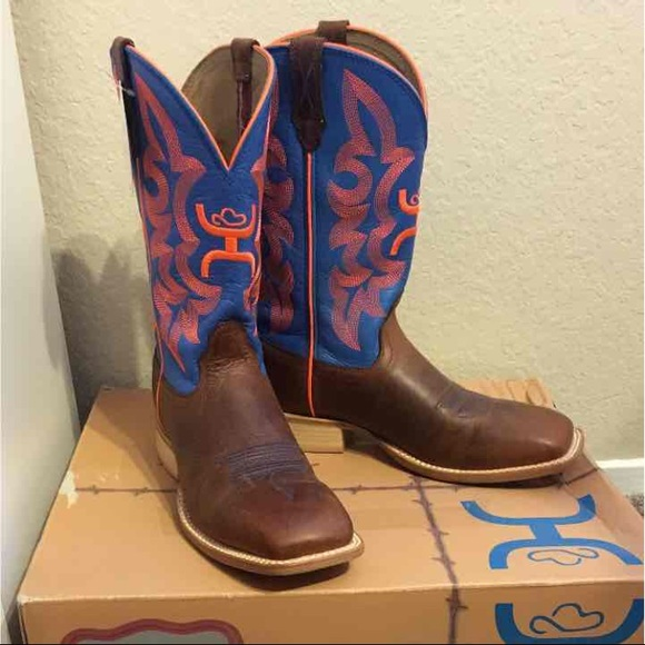 c5da870147f89 NWT Twisted X Hooey Boots Women 8 Blue Orange NWT